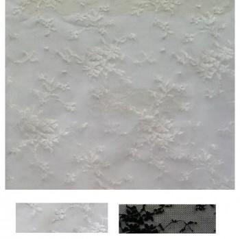 ENCAJE BLONDA MICROFLORES