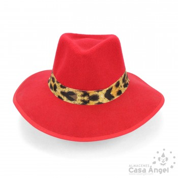 SOMBRERO INDIANA JONES ROJO