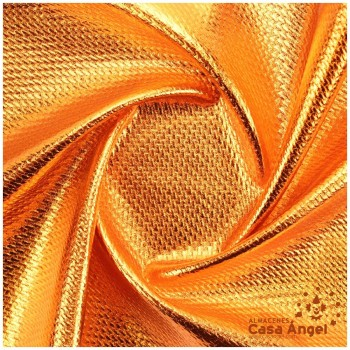 TELA PUNTO FOIL RELIEVE NARANJA BRILLANTE