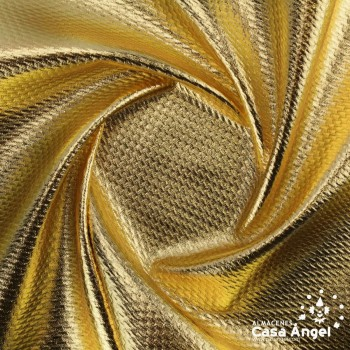 TELA PUNTO FOIL RELIEVE ORO BRILLANTE