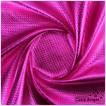 TELA PUNTO FOIL RELIEVE FUCSIA BRILLANTE