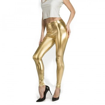 LEGGINGS COLOR ORO BRILLANTE