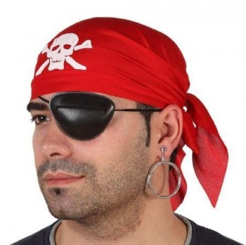 SET PARCHE PIRATA ROJO