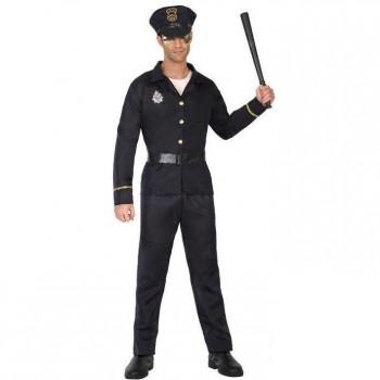 DISFRAZ POLICÍA HOMBRE ADULTO