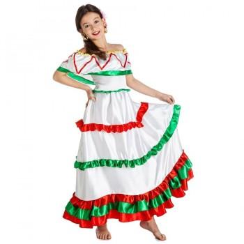 DISFRAZ MEXICANA VESTIDO INFANTIL