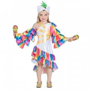 DISFRAZ RUMBERA TROPICAL INFANTIL
