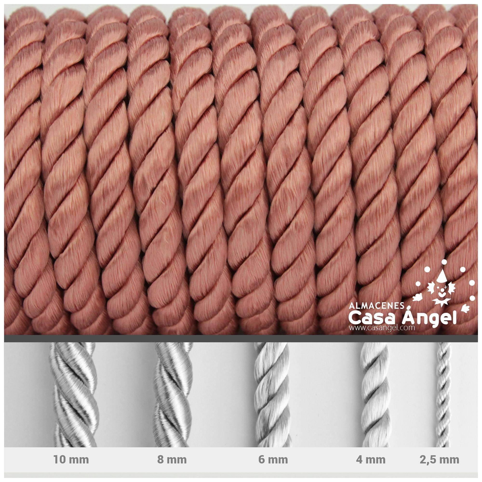 CORD/ÓN RAY/ÓN LABRADO TORZAL MARR/ÓN CLARO ANCHO 2,5mm, 1 METRO