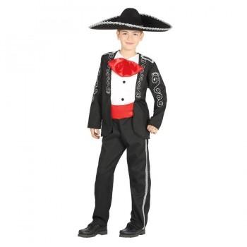 DISFRAZ MEXICANO MARIACHI NEGRO INFANTIL