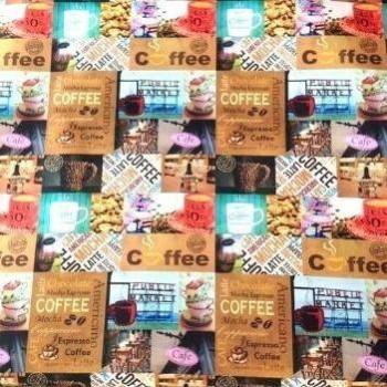 MANTELERÍA TELA ANTIMANCHAS COFFEE