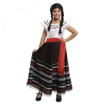 DISFRAZ MEXICANA FALDA INFANTIL