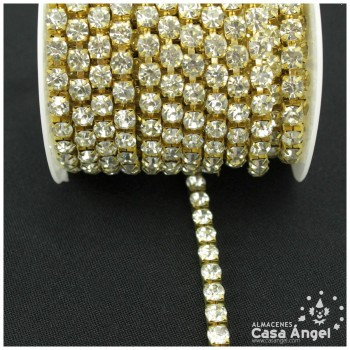 CADENA DE ACERO BRILLANTES DE STRASS 50mm